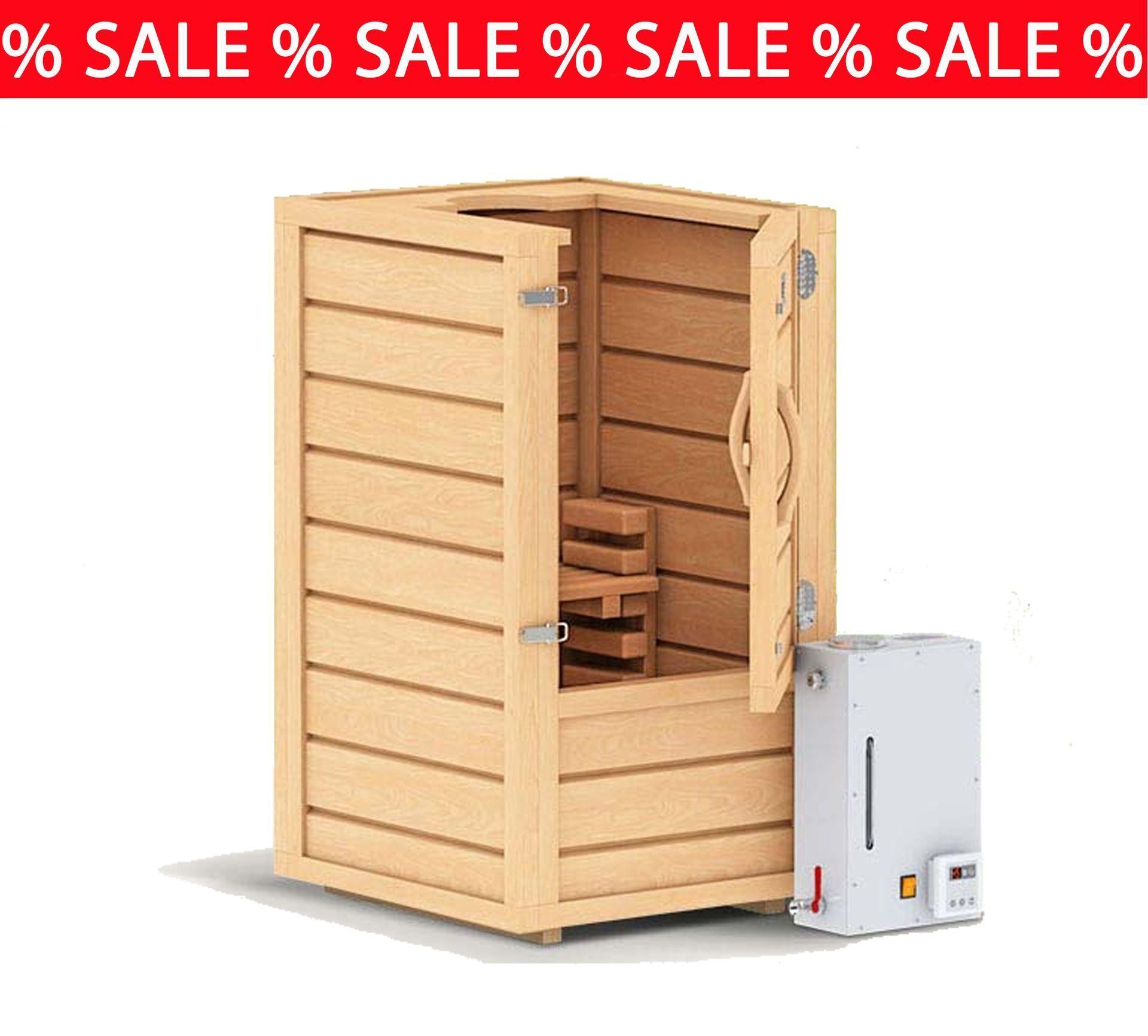 Mini Sauna für Zuhause aus Zeder Holz