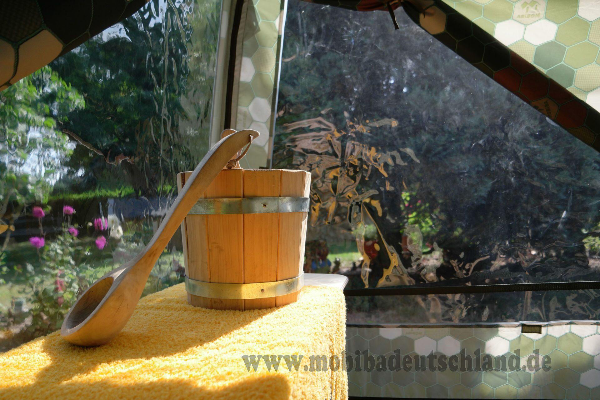 mobiba ihre outdoor sauna mit 2 panoramafenstern. Black Bedroom Furniture Sets. Home Design Ideas