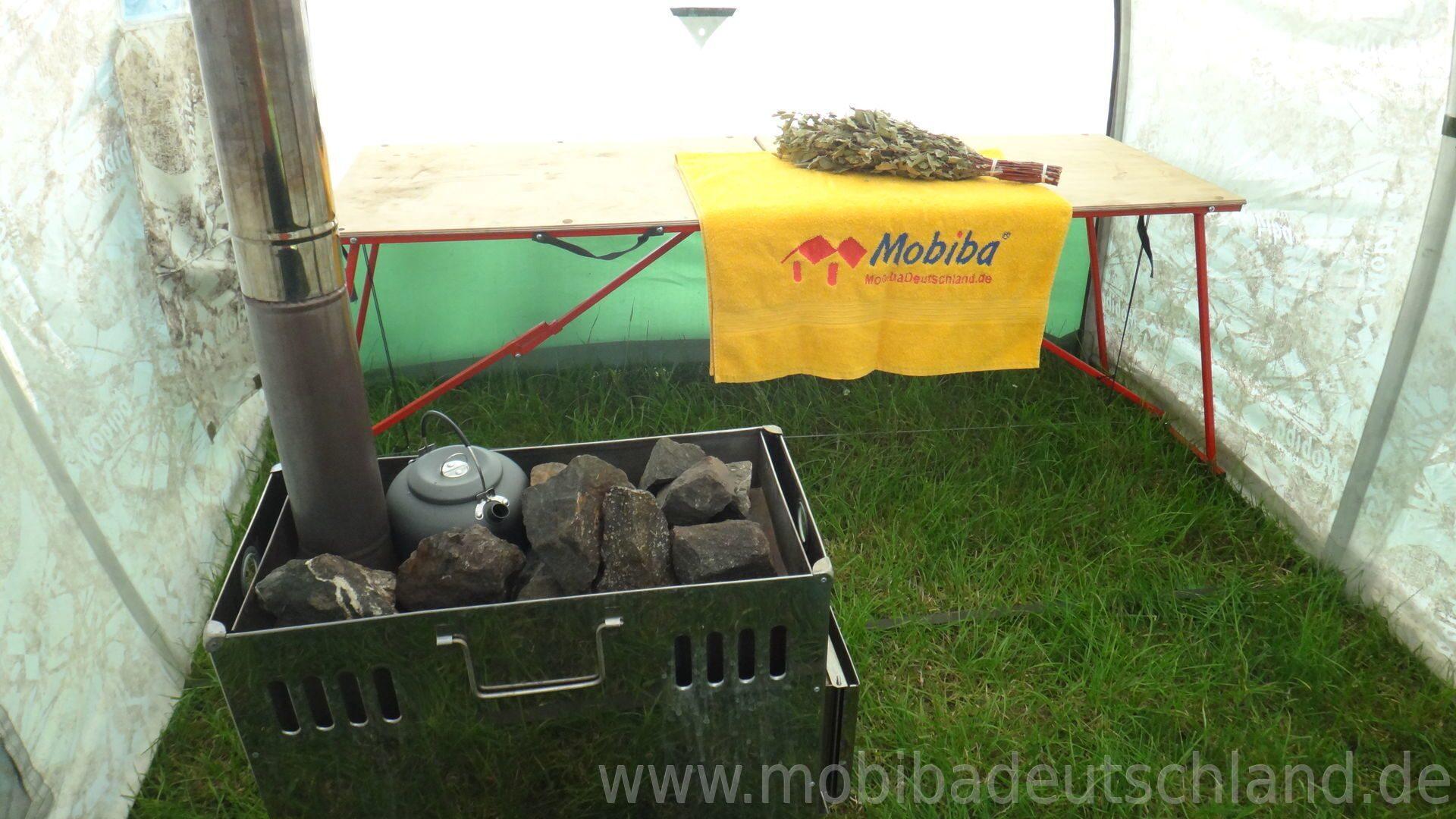 mobile sauna mobiba mb 104 mit holzofen mediana preise. Black Bedroom Furniture Sets. Home Design Ideas